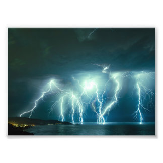 Lightning Show photo print