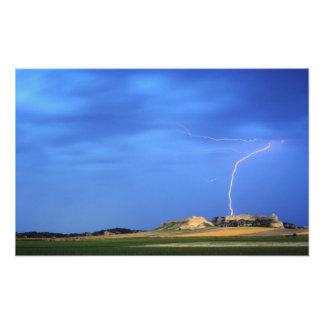 Lightning strikes the Wildcat Hills near Photo Print