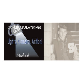"""""""Lights, Camera, Action!"""" Personalized Photo Card"""