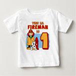 Lil Fireman 1st Birthday T-shirt