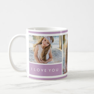 Lilac I love You Photo Collage | Mug