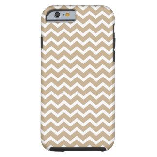 Linen Beige Chevrons Pattern Tough iPhone 6 Case