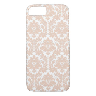 Linen Beige Damask Pattern iPhone 7 Case