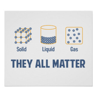 Liquid Solid Gas - They All Matter Poster