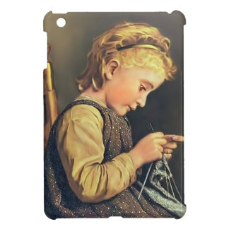Little Girl Knitting iPad Mini Covers