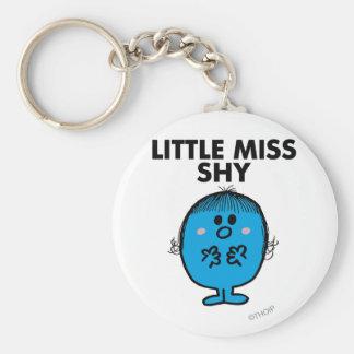 Little Miss Shy | Black Lettering Basic Round Button Keychain