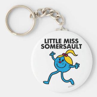 Little Miss Somersault Walking Tall Basic Round Button Keychain