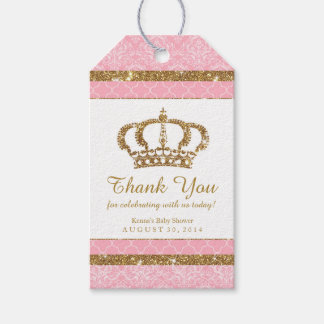 Little Princess Royal Pink Gold Favor Tag Pack Of Gift Tags