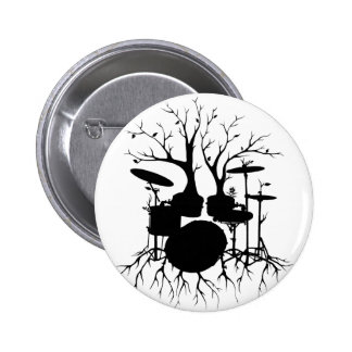 Live the Beat to the Tempo of Creation ~ drum 2 Inch Round Button