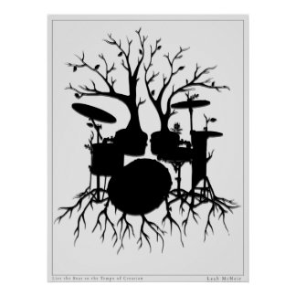 Live the Beat to the Tempo of Creation ~ drum art Poster