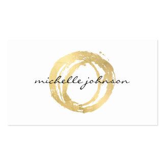 Logo de concepteur de cercle peint par or Luxe de Carte De Visite Standard
