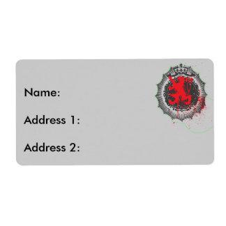 Logo de lion étiquette d'expédition