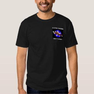 Longue pièce en t de douille de Flying Tigers Tee Shirt