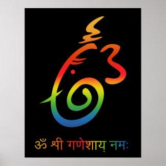 Lord Ganesha Sign Poster