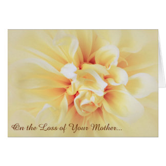 Loss of Mother Floral Sympathy Greeting Card