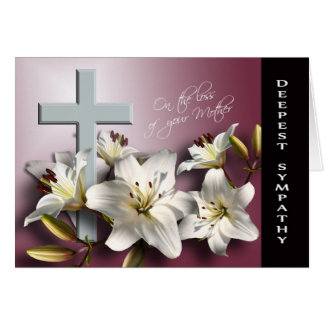Loss of Mother - With Deepest Sympathy Greeting Card