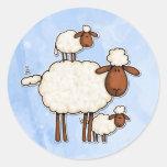 love ewe (no txt) round sticker