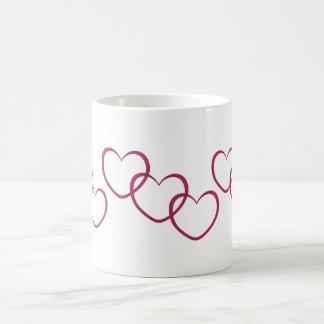 love hearts classic white coffee mug