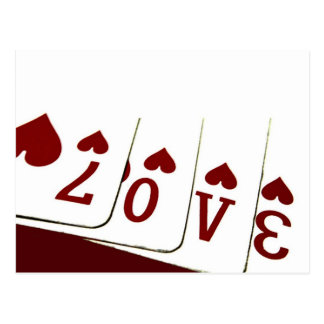 Love in Heart Playing Cards Postcard