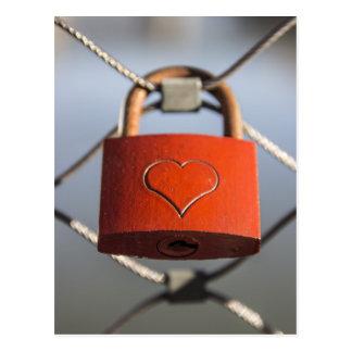 Love lock postcard