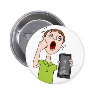 Low Battery Smart Phone Alert 2 Inch Round Button
