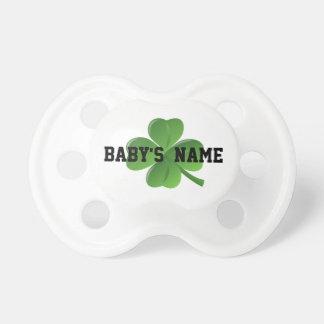 Lucky personalized Irish shamrock Baby Pacifier