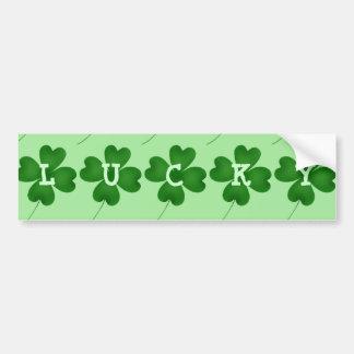 Lucky shamrock bumper sticker