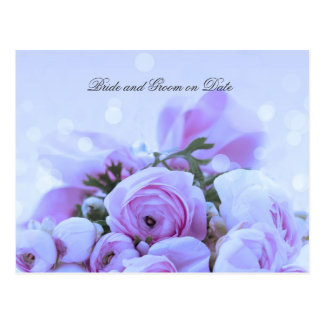 Luxury Blue Roses Bouquet Save date card Postcard