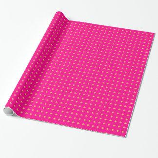 Luxury Hot Pink and Gold Girly Damask Pattern