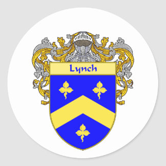 Lynch Coat of Arms (Mantled) Round Sticker