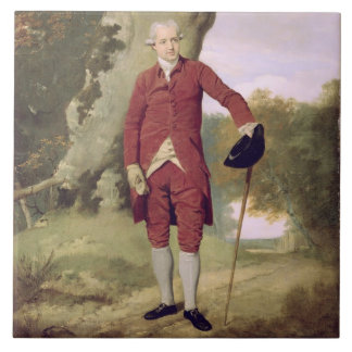 M. Thrale, c.1770-80 (huile sur la toile) Grand Carreau Carré