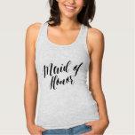 Maid Of Honour Black Script Shirt