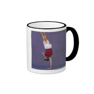 Male gymnast performing on the floor exercise 2 ringer coffee mug