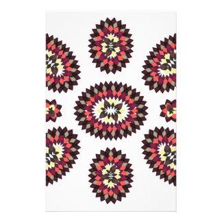 Mandala Flower Pattern Stationery Design