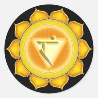 Manipura or Solar Plexus the 3rd Chakra Round Sticker