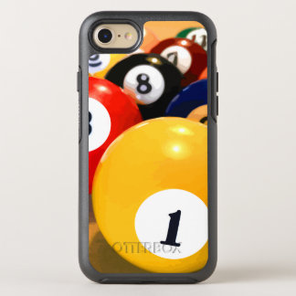 Manly Mens Billiards Theme OtterBox Symmetry iPhone 7 Case