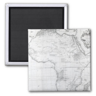 Map of Africa Square Magnet