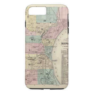 Map of the City of Milwaukee, Milwaukee Co iPhone 7 Plus Case