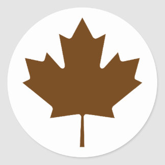 Maple Leaf BrownTransp The MUSEUM Zazzle Gifts Round Sticker