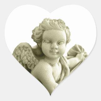 Marble Angel Heart Sticker