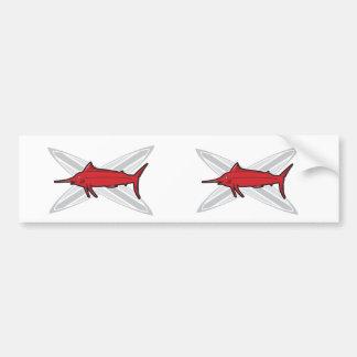 Marlin and Surfboards Bumper Sticker