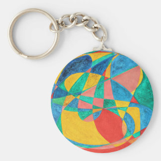 MASSAGE painted in abstract word art, text art Basic Round Button Keychain