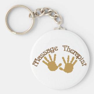 Massage Therapist Basic Round Button Keychain