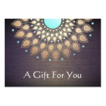 Massage Therapist Gift Card Large Business Card