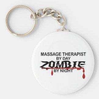 Massage Therapist Zombie Basic Round Button Keychain
