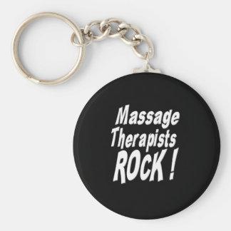 Massage Therapists Rock! Keychain