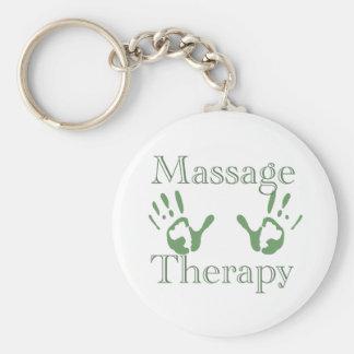 Massage therapy hand prints basic round button keychain