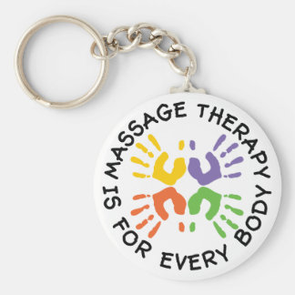 Massage Therapy Is For Every Body Keychain