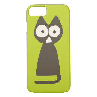 Matcha Green Brown Triangle Cat iPhone 7 Case