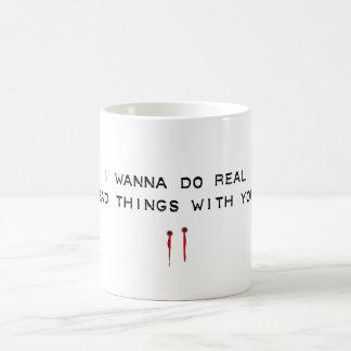 mauvaises choses mug blanc